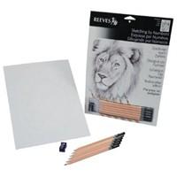 Reeves Dereceli Kalemler İle Gölgelendirme Çizim Seti Aslan
