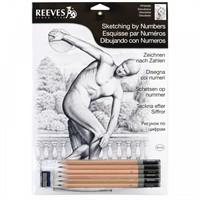 Reeves Dereceli Kalemler İle Gölgelendirme Çizim Seti Discobolus