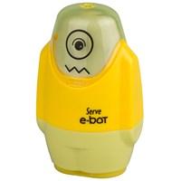 Serve E-Bot Silgi+Kalemtıraş 9'Lu Karton Kutu Sarı Sv-Ebot9Ktfs