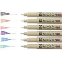 Sakura Pigma Micron Renkli Çizim Kalemi 0.25 Mm Siyah