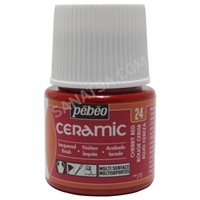 Pebeo Ceramic Seramik Boyası 24 Cherry Red