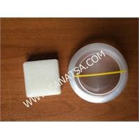Lutart Plastik Fırça Temizleme Kabı Süngerli 15 Cm