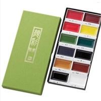 Zig Kuretake Gansai Tambi Profesyonel Japon Sulu Boya Özel Pigment 12 Renk