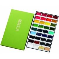 Zig Kuretake Gansai Tambi Profesyonel Japon Sulu Boya Özel Pigment 36 Renk
