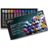 Mungyo Gallery Metallic Yağlı Pastel 12 Renk Metalik