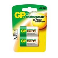 GP 2'li ReCyko 2200 Serisi Ni-Mh Şarj Edilebilir C Boy Orta Pil (GP220CHEMTR-2GB2)