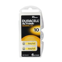 Duracell 10 Numara Kulaklık Pili 6Lı Paket