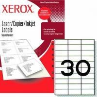 Xerox Lazer Köşeli (70X30) 30 Etiket