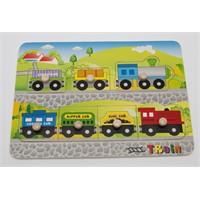 Hongji Ahşap 98020 Puzzle Tren Pimli Bohj98020