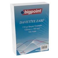 Bigpoint 160-31 Davetiye Zarfı 13*18 110Gr 100 Lü Bp16031
