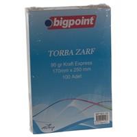 Bigpoint 161-10 Torba Zarf 17*25 90Gr Kraft 100 Lü Bp16110
