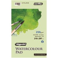 Bigpoint Bpp304 Water Colour Pad 250Gr 25 Yp A4 Bpp304