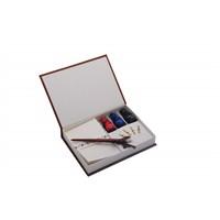 Steelpen Calligraphy Pen Set Kuş Tüyü&Zarflı Ve 3 Renk Mürekkep Cs-1528