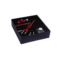 Steelpen Calligraphy Pen Set Kristal Şişe Ahşap Mühürlü Sk-290