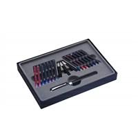 Steelpen Calligraphy Pen Set 3 Ayrı Üç Seçenekli Siyah Ahşap Kutu Ck-2592
