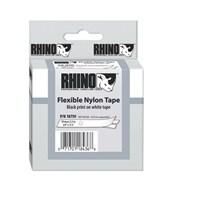 Dymo RhinoPRO Esnek Naylon Şerit 19mmx3,5m Beyaz/Siyah