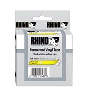 Dymo RhinoPRO Renkli Vinil Şerit 12mmx5,5m Sarı/Siyah