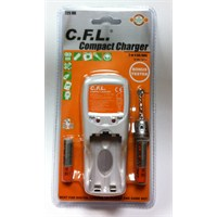 C.F.L. 725HB Compact Şarj Cihazı + Pil Test Cihazı + 2 Adet 1100 maH İnce Kalem Pil