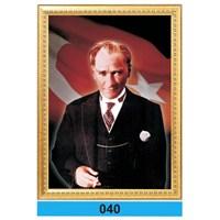 İnter 50x70 cm Varaklı Atatürk Portresi İNT-040