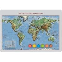 35x50 Kabartma Yap-Boy Dünya Fiziki Haritası