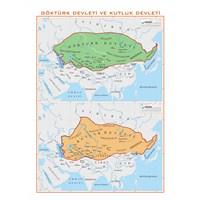 Asya'Da Göktürk Ve Kutluk Devletleri Haritası