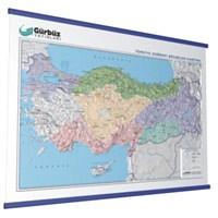 Kabartma Türkiye Bölgeler 70X100 Haritası