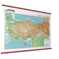 Kabartma Türkiye Fiziki 70X100 Haritası