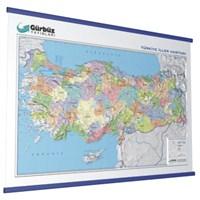 Kabartma Türkiye Siyasi 70x100 Haritası