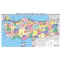 Türkiye Fiziki + Siyasi (70X100) Çift Taraflı Haritası
