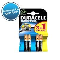 Duracell Turbo Max Alkalin AAA İnce Kalem Pil (3+1) 4'lü Paket
