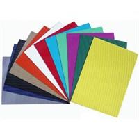 Vincent Corrugated Paper - Renkli Oluklu Mukavva 25x35 Normal Renkler 10'lu Paket