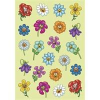 Herma Çocuk Etiketleri Sevimli Renkli Çiçekler