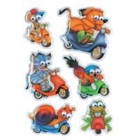 Herma Çocuk Etiketleri Motosikletli Hayvanlar