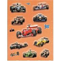 Herma Çocuk Etiketleri Yarış Arabası Pop-up