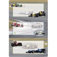Herma Okul Etiketi Yarış Arabaları