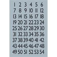 Herma Ofis Etiketleri Harf&Rakam 1-100, 13X12Mm Gümü 4134