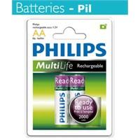 Philips R6B2RTU20 AA 2000 Mah Şarj Edilebilir 2'Li Kalem Pil