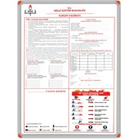 Panda 506 50X70 Yangın Güvenlik Talimatı (Alümiyum Çerçeve)