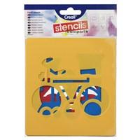 Creall Stencil 14x15 cm/6prç Trantsport