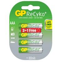 GP 4'lü (3+1) ReCyko Pro Ni-Mh Şarj Edilebilir AAA İnce Pil 850 mAh (GP85AAAHC2P/6)