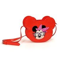 Minnie Mouse Omuz Çantası 20*15*5 cm (Kırmızı)