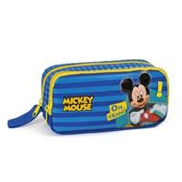 Mickey Mouse Kalem Çantası 21*10*6 cm (Lacivert-Sarı)