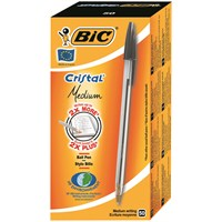 Bic Cristal Medium Tükenmez Kalem 50'Li Kutu Siyah