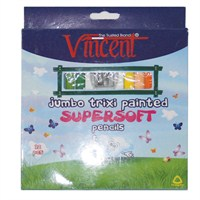 Vincent Trixi Supersoft Renkli Sap Kuru Boya Kalemi 12'li Set