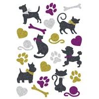 Herma Çocuk Etiketi Parıldayan Kediler ve Köpekler