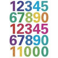 Herma Çocuk Etiketi Işıltılı Renkli Rakamlar