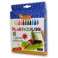 Jovi Plastic Crayons 12 Renk Jumbo Plastik Pastel Boya