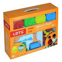 Lets L-8410 Eğlence Diyarı 16 Parça +560gr 4 Renk Oyun Hamuru