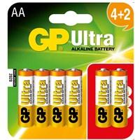 GP Ultra Alkalin 6'lı (4+2) AA Boy Kalem Pil (GP15AU4/2P6)