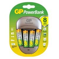 GP Powerbank QUICK-3 Pil Şarj Cihazı GP2700 Şarjlı Kalem Pil Hediyeli